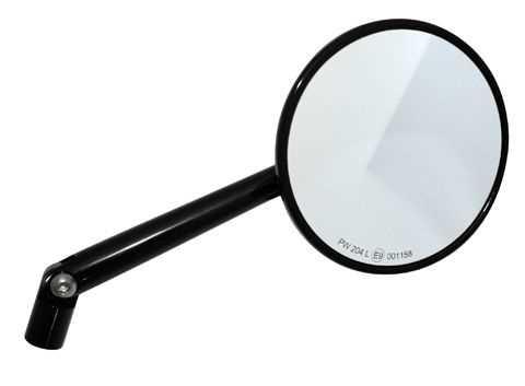 Highsider spiegel montana rund schwarz matt stiel verstellbar rechts links neu ebay - Spiegel rund schwarz ...