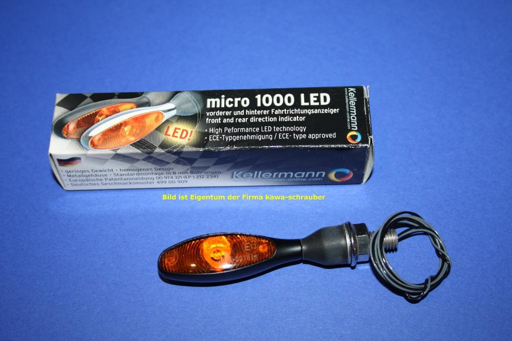 125.200 original Kellermann Blinker Micro 1000 LED 1000LED schwarz neu new