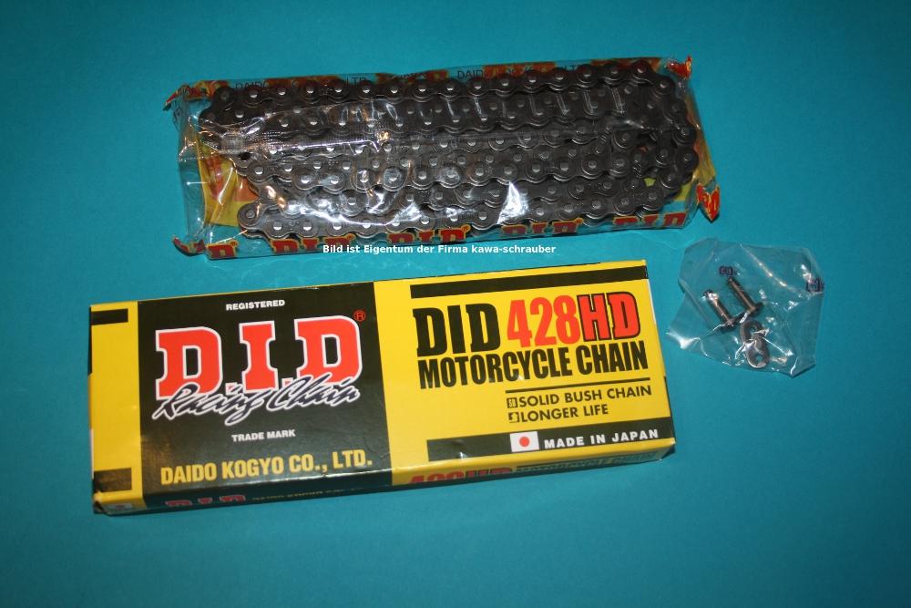 DID Antriebskette Kette 428HD verstärkt 116 Glieder für Mofa Moped Motorrad