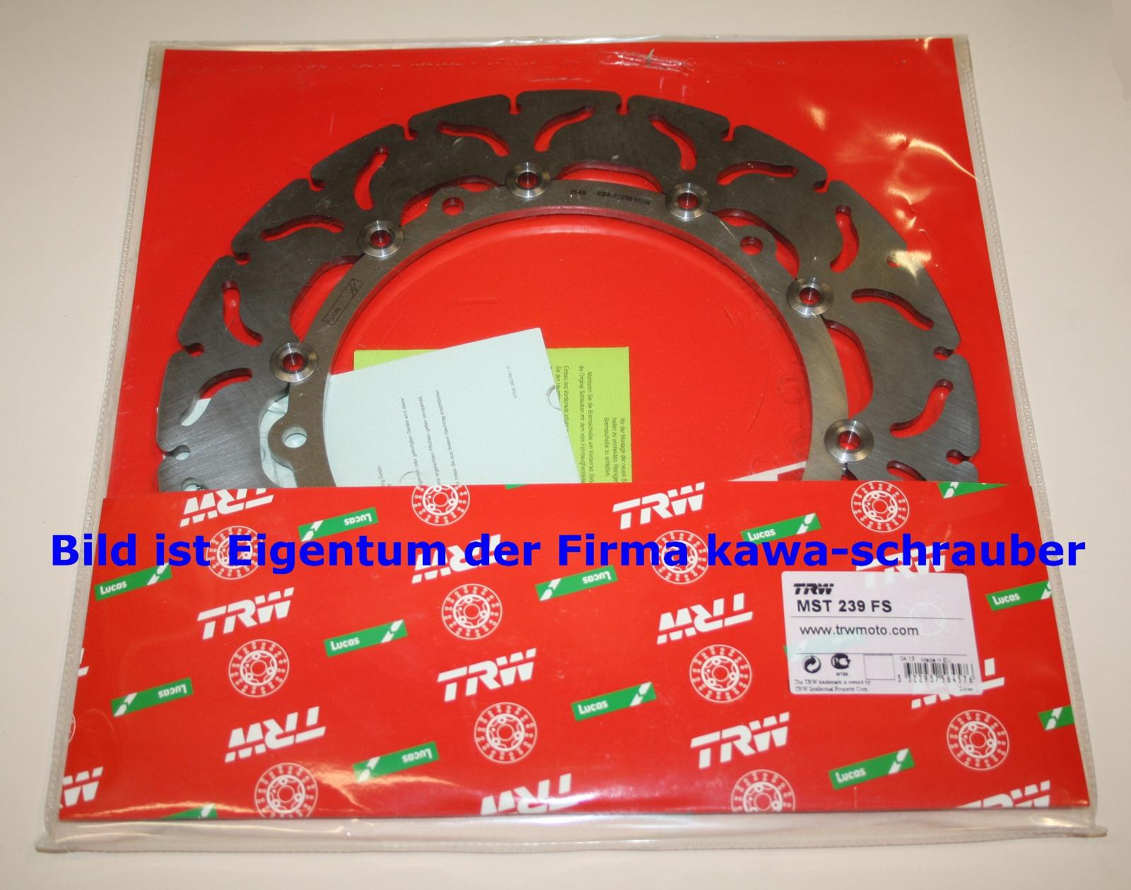 MST239FS 1x Bremsscheibe Bremse TRW